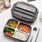 Almoço de divisão de grande capacidade de aço inoxidável Caixa Forno de micro-ondas Aquecimento de compartimento de isolamento almoço Caixa