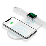 Baseus Dual Coins Magnetic Wireless Charger Pillow For iPhone X XS XS Max XR 8 Apple Watch 4 3 2