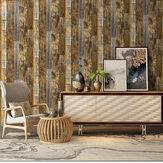 3D Retro Wood Grain Stick Self-adhesive Wallpaper Home Decor Heavy Duty Wall Stickers