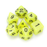 7 Pcs Poliédrico Luminoso Dices Multi-sided Dice Set Poliedro Dices Com Dice Cup RPG Gadget