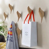 KCASA KC-488 Forma de pájaro 3D Wall Hooks resina Bird Decoración abrigo Toalla Storage Hook pared simple Percha Inicio Cuarto de baño Dormitorio decoración