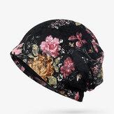 Kobiety Kwiaty Bawełniana koronkowa czapka zimowa Etniczne w stylu vintage Dobre elastyczne oddychające czapki turbanowe
