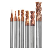 Drillpro 1-8 mm 4 fluiten wolfraamcarbide freesfrees HRC55 AlTiN coating freesfrees CNC-gereedschap