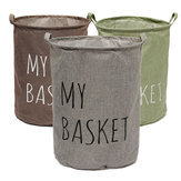 Cotton Linen Fabric Foldable Laundry Washing Hamper Bag Clothe Basket Storage Bin