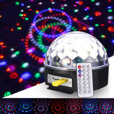 18W Crystal Ball Magic RGB LED-podiumverlichting Afstandsbediening MP3 DJ Club Pub Disco Partylamp AC100-240V