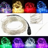 10M 100 LED Zilveren Wire Kerstmis Outdoor String Fairy Light Waterproof DC12V