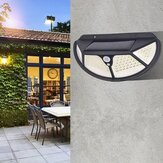102SMD/122COB Four-sided PIR Motion Sensor LED Solar Lamp Waterproof 3 Modes Garden Wall Lamp