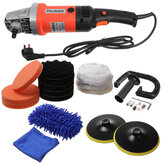 1600W Red Electric Polisher 8-Gang-Autopolierer Wachsmaschine Sander Buffer Orbitalpoliermaschine Satz