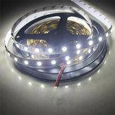 2 ADET 5 M SMD5050 300 LED Saf Beyaz Olmayan Su Geçirmez Esnek Bant Şerit Işık Lamba DC12V