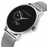 ECONOMICXI E65 estilo casual ultrafino masculino relógio de pulso malha de aço Banda relógios de quartzo