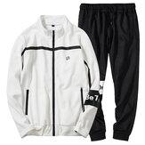 Men's Spring Autumn Casual Loose Zipper Sports Suit