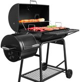 3-in-1 BBQ Charcoal Grill with Offset Smoker BBQ Grill Barbecue Accessories for Outdoor Garden RV Travel Camping Cooking