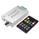 18 Key Music Audio Controller 3 Channel 12A RF Wireless Remote DC12V-24V For RGB Strip Light