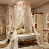天井に取り付けられた蚊帳無料インストール防塵通気性ホームDome折りたたみ式ベッド天蓋付きプリンセス