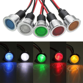 19mm 12V LED Panel Pilot Dash Light Indicator Warning light Car Boat Signal Lamp