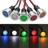 19mm12VLEDPanelPilotDash Işık Göstergesi Uyarı ışığı Araba Bot Sinyal Lamba
