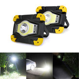 Portable USB COB LED Camping Lantern Lamp Outdoor Work Light Spotlight 4 Modes