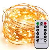5M / 10M / 10M + Fernbedienungsleuchten Lichterkette Kupferdrahtlampe Batterie Typ LED Laterne Blinklicht Im Freien Wasserdicht Sternendekoration Licht Weihnachtsbaumdekoration Farbiges Licht