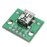 50pcs USB To DIP Female Head Mini-5P Patch To DIP 2.54mm Adapter Board