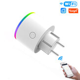 MoesHouse WiFi Smart Plug Wireless RGB Power Socket Smart Life/Tuya App Wireless Remote Control Work with Alexa Google Home