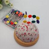 50Pcs Accessori per cucire Patchwork Pin Fiore per cucire fisso Ago per posizionamento colore con Scatola