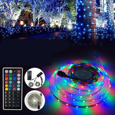 3M 5M 10M LED Strip Light SMD3528 RGB + IR Afstandsbediening + Power Adapter Decoratieve verlichting DC12V