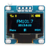 2pcs 0.96 Inch 4Pin Blue Yellow IIC I2C OLED Display Module Geekcreit for Arduino - products that work with official for Arduino boards