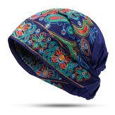 Women Ethnic Embroidery Cotton Beanie Caps Vintage Good Elastic Breathable Turban Caps