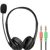 Bakeey U11B Słuchawki do gier Zestaw lekcyjny dla studentów Podwójna wtyczka 3,5 mm Stereofoniczne słuchawki konferencyjne z mikrofonem