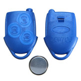 3 Button Blue Remote Key Fob Case with battery For Ford Transit MK7