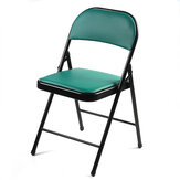Folding Backrest Chair Dark Green Portable Simple Office Computer Chair Modern Conference Stool Home Office Dormitory Furniture