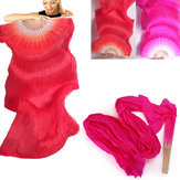 1.8m Wydłużenie Belly Dance Fan Imited Silk Fabric Bamboo Fans Taniec Taniec Performance Supplies