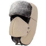 Heren Dames Winter Fluwelen Waterdichte Russische Hoeden Met Masker