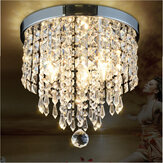 LED Pingente Teto lâmpada elegante bola de cristal LED Chandelier Light Home Decor
