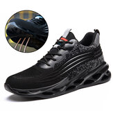 TENGOO Men Safety Work Shoes with Steel Toe Cap Puncture-Proof Boots Lightweight Breathable Sneakers Indestructible Shoes