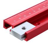300-1220mm liga de alumínio vermelho 45 Tipo T-Track Laser Scale Woodworking T-slot faixa de esquadria para mesa de serra de mesa roteador