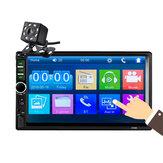 7018B 7 بوصة 2DIN سيارة MP5 لاعب LCD لمس شاشة بلوتوث راديو FM هاتف مرآة رابط مع 8LED النسخ الاحتياطي الة تصوير