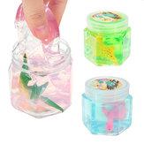 Dinosaur Animal Crystal Mud Hex Bottle Transparent Slime DIY 5.5cm*5.7cm Plasticine Toy Gift