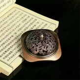 Incense Coil Holder Dragon Carved Burner Antique Copper Aromatherpy Furnace Home Plate Holder