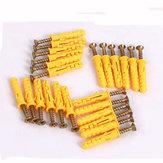 8mmx40/60/80/100mmGelb Croaker Kunststoff-Dehnschrauben Dehnschraube Tube Selbstschneidende Schraube für Türfensterrahmen Schrankbefestigung