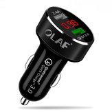 OLAF Chargeur USB de voiture Charge rapide 3.0 2.0 Chargeur de téléphone portable 2 ports USB Chargeur de voiture rapide pour Samsung Xiaomi Tablet Chargeur
