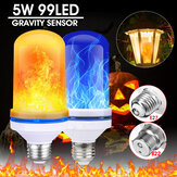 Original              E27/B22 99LED Beads 5W Super Bright 4 Modes Gravity Sensor Flame Effect Light Bulb Lamp Home Decor