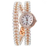 DUOYA XR1304 Pearls Ultra Thin Strap Bracelet Watch