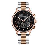 GADYSON A0701 Fashion Men Watch Date Display Business Stainless Steel Strap Quartz Watch