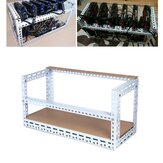 Steel Crypto Coin Bitcoin Mining Rig Frame Case Shelf Set pour 6 GPU