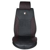Capa protetora de couro PU para assento de carro e capa traseira universal