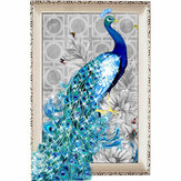 Pintura diamante bordado 5D DIY Blue Peacock Stitch Craft Home Decor