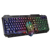 D620 104Key RGB Backlight Mechanical Feeling Keyboard and 1600 DPI RGB Gaming Mouse
