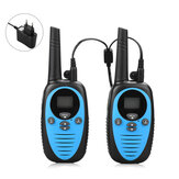 A Pair of XF-508 0.5W Mini Kids Walkie Talkie Waterproof 22 Channels 1-3km Distance Handheld Dual Band Two Way Radio Driving Civilian Interphone