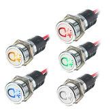 12V 14mm LED Dash Panel Indicator Lamp Waarschuwingslicht